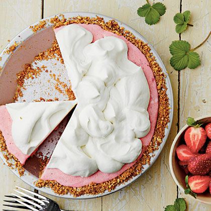 Strawberry -Pretzel Icebox Pie